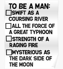 To Be A Man: Poster