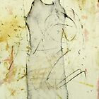 Ball Gown on burnt paper by donna malone