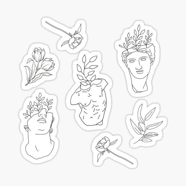 Statues & Flowers Sketch Pack Sticker