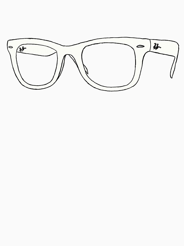 Line Drawing Glasses : How to draw ray bans sunglasses