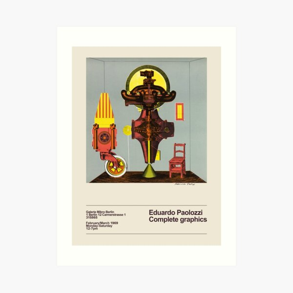 Eduardo Paolozzi. Exhibition poster for Galerie Mikro in Berlin, 1969. Art Print