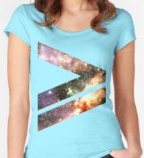 Greater Than [Messier 17] | Mathematix Women's Fitted Scoop T-Shirt