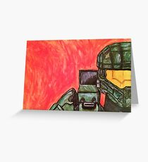 Master Chief Halo Tribute Greeting Card