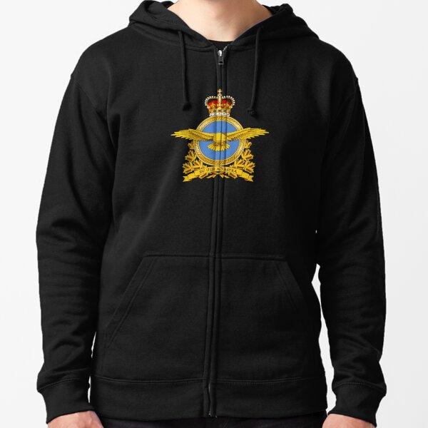 Royal Canadian Air Force Badge Zipped Hoodie