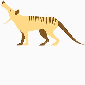 EXTINCT: Thylacine (Tasmanian Tiger) by bridge8