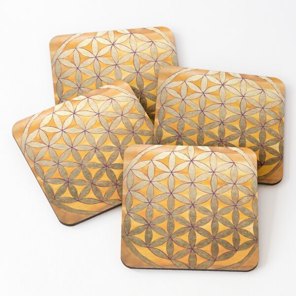 Flower of Life Coasters (Set of 4)