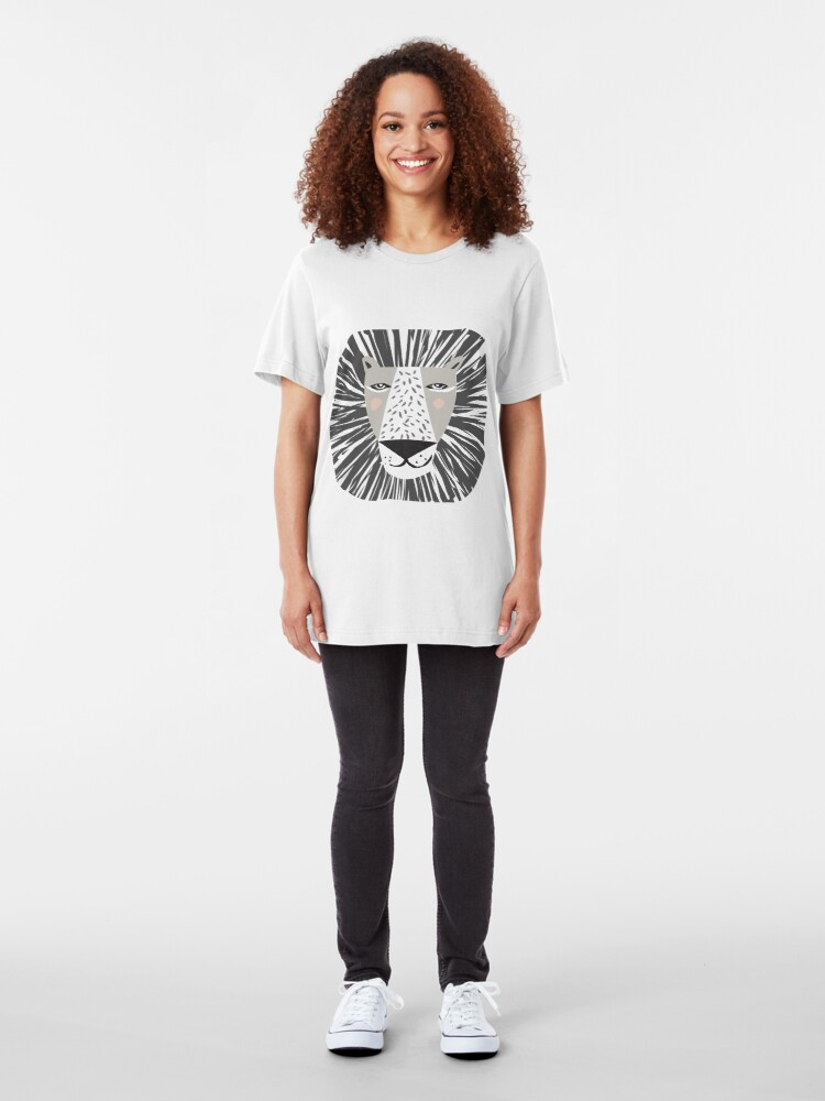 Alternate view of Friendly Lion Slim Fit T-Shirt