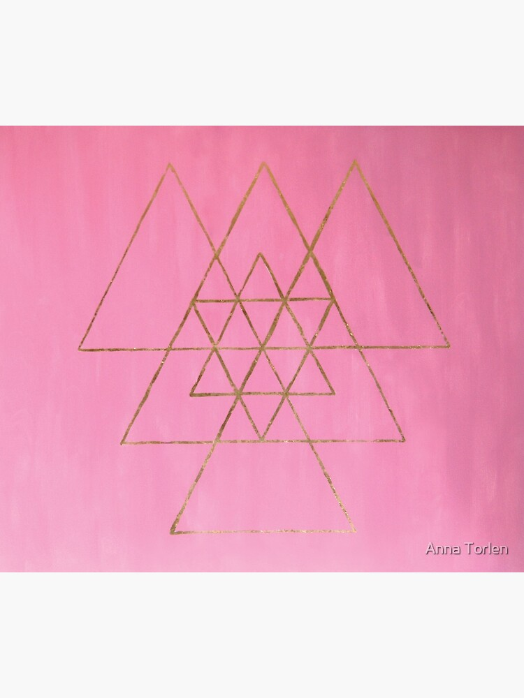 Golden Triangles with Pink by AnnaTorlen