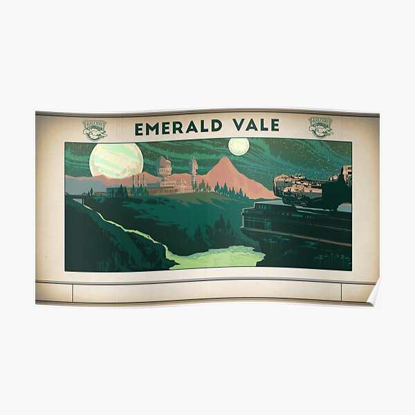 The Outer Worlds Emerald Vale Poster Poster