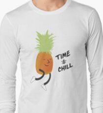 Time to Chill Pineapple Long Sleeve T-Shirt