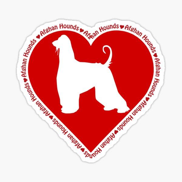 Afgano afgana viento perro consultará a la palabra perros pegatinas auto adhesivos para coches