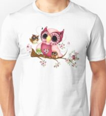 Under Her Wings - Mothers Day Owl Art Unisex T-Shirt