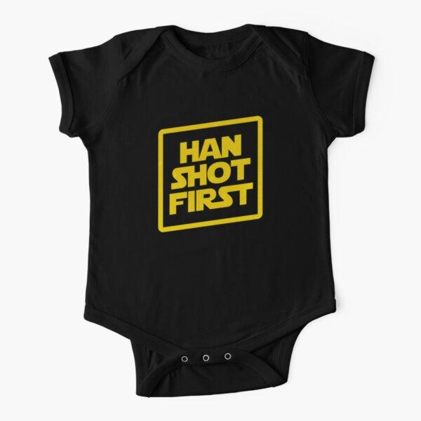 Han Shot First Short Sleeve Baby One-Piece