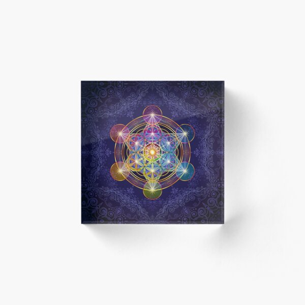 Metatron's Cube Merkabah Acrylic Block