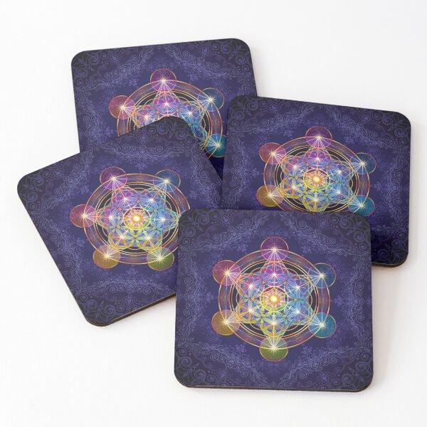 Metatron's Cube Merkabah Coasters (Set of 4)