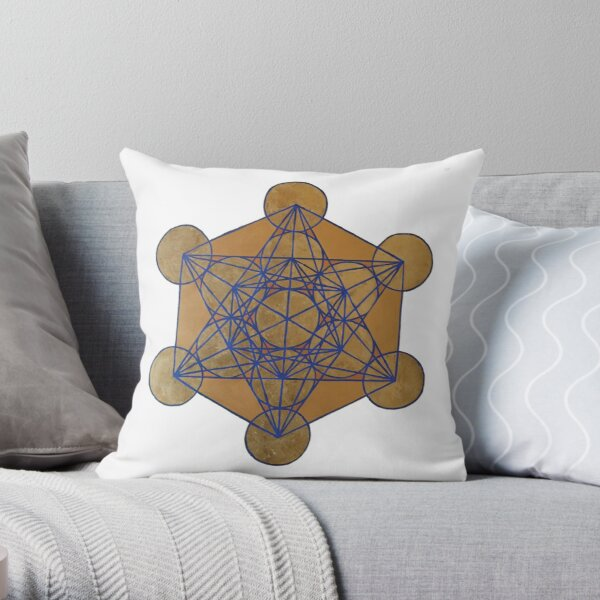 Metatron's Cube 3 ( XL )  Throw Pillow