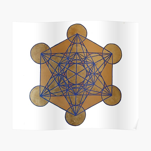 Metatron's Cube 3 ( XL )  Poster