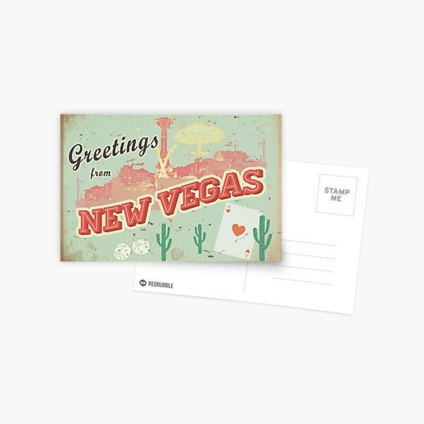 New Vegas Postcard Postcard
