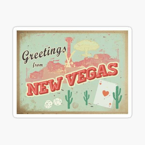 New Vegas Postcard Sticker