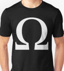 Omega Symbol [White Ink] Unisex T-Shirt