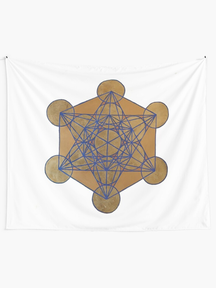 Alternate view of Metatron's Cube 3 ( XL )  Tapestry