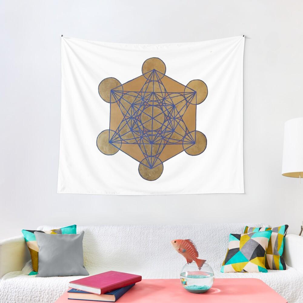 Metatron's Cube 3 ( XL )  Tapestry