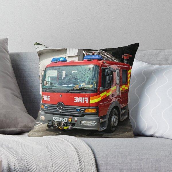 Mercedes 1328F Fire Engine Throw Pillow