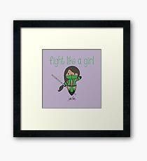 Fight Like a Girl   Friend Warrior Framed Print