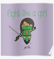 Fight Like a Girl | Friend Warrior Poster