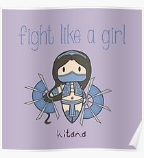 Fight Like a Girl - Princess Poster