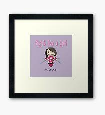 Fight Like a Girl - Clone Framed Print