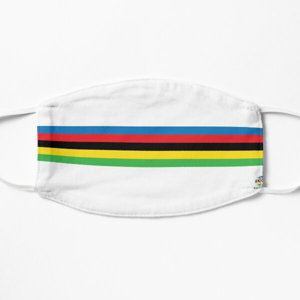 Cycling World Champion Rainbow Stripes Flat Mask
