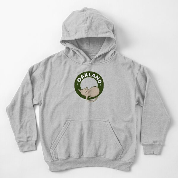 Cool cats live in Oakland Kids Pullover Hoodie
