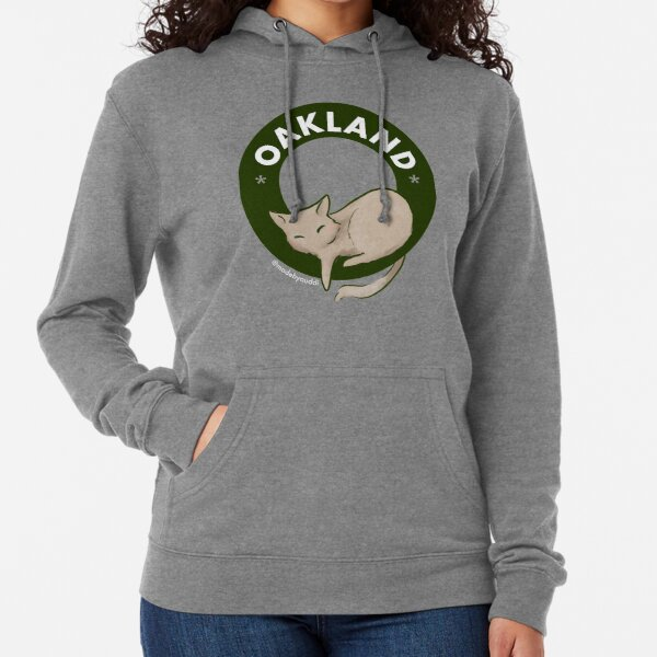 Cool cats live in Oakland Lightweight Hoodie