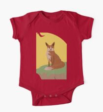 The Lonely Fox Sitting Viewing the Moon Kids Clothes