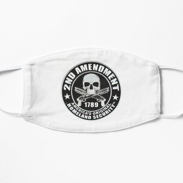 2nd Amendment Skull Flat Mask