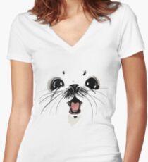 Ghus saga comic fantacy Women's Fitted V-Neck T-Shirt