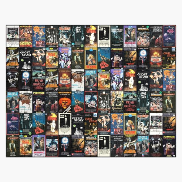 RETRO HORROR VHS ARTWORK - 1981 Jigsaw Puzzle