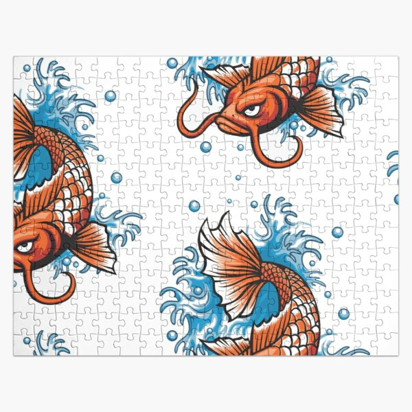 They come in a variety of colors, not just orange. Jigsaw Puzzle