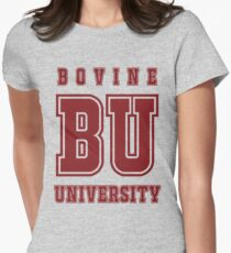 Bovine University - Simpsons Womens Fitted T-Shirt