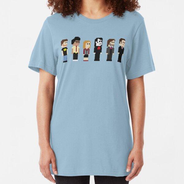8-Bit IT Crowd Slim Fit T-Shirt