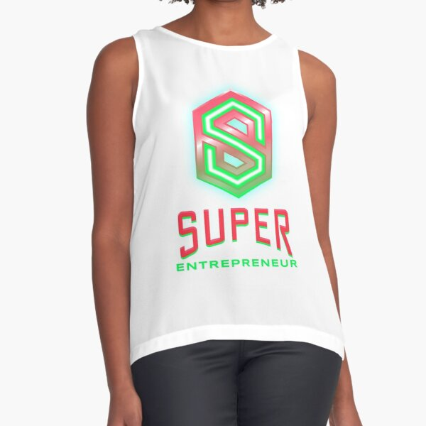 Super Entrepreneur lime green and hot pink Sleeveless Top