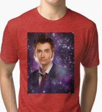 The 10th Doctor in Space Tri-blend T-Shirt