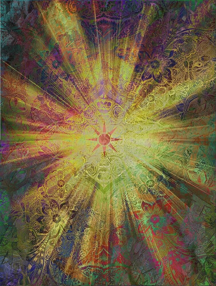 Sunshine Floral Shine Pattern by emilymichaudart