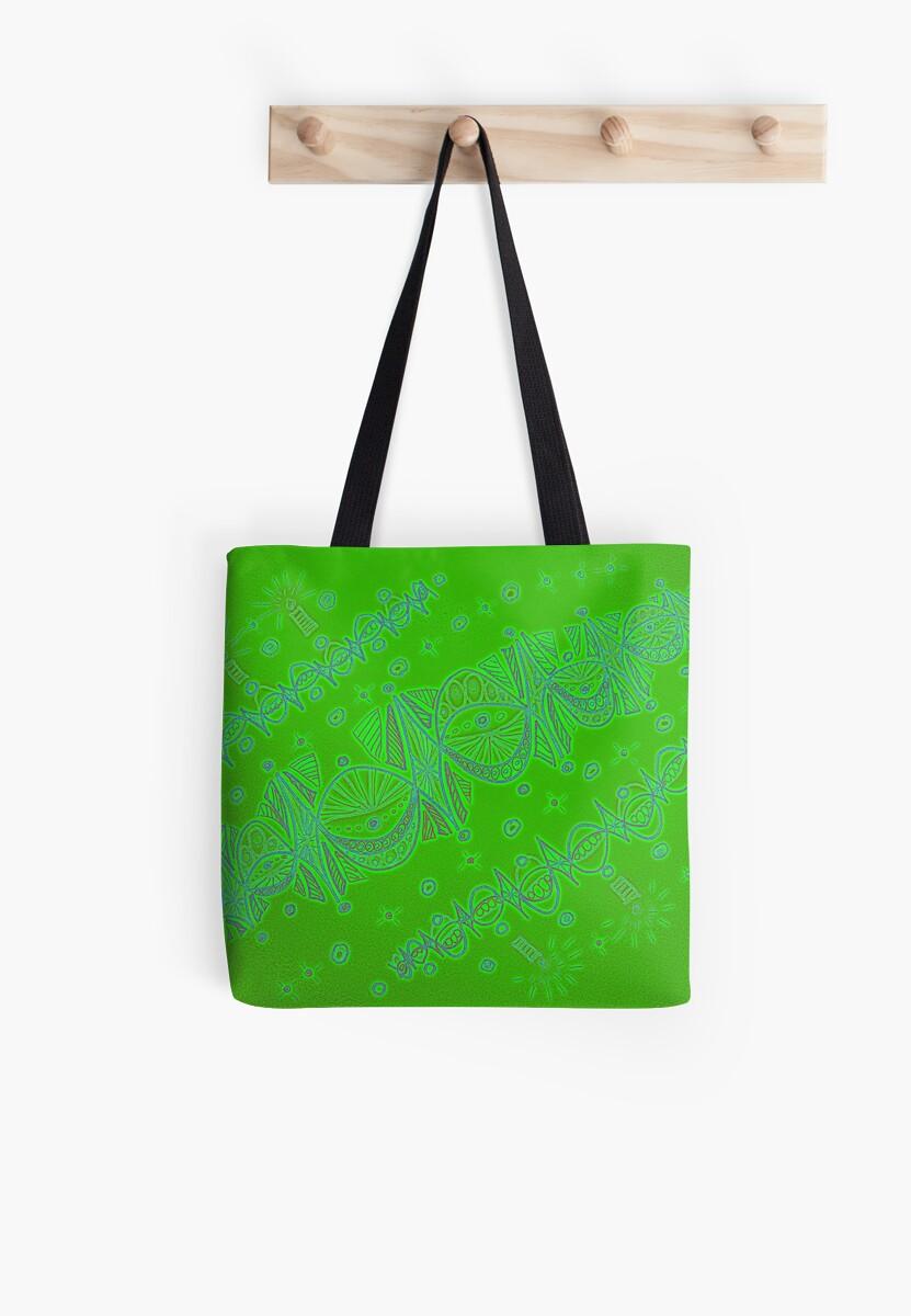 Green Christmas garlands by MagsArt
