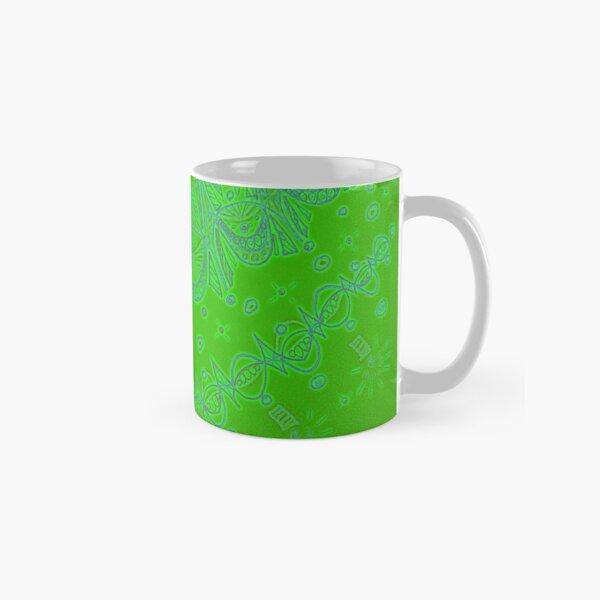 Green Christmas garlands Classic Mug