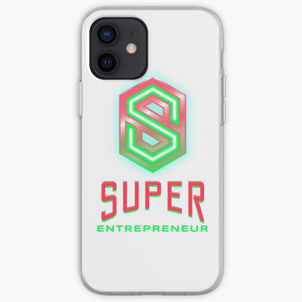 Super Entrepreneur lime green and hot pink iPhone Soft Case