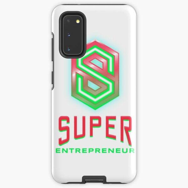 Super Entrepreneur lime green and hot pink Samsung Galaxy Tough Case