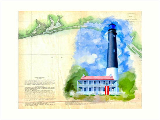 Historic Panhandle of Florida - Pensacola Lighthouse by Mark Tisdale
