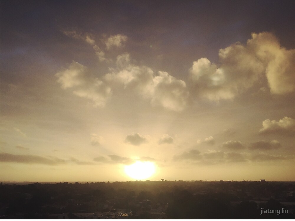 Beautiful sunset by jiatong lin
